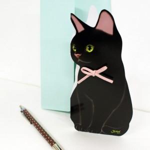 超级可爱猫猫站立贺卡$5.